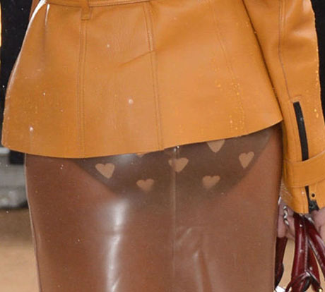 Paloma Faith's Burberry heart-print knickers